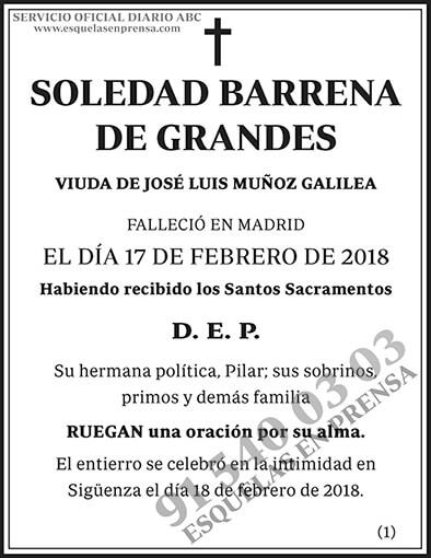 Soledad Barrena de Grandes